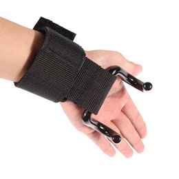 Wholesale Weight Lifting Wrist Support Hook - Wholesale- Strong Pro Weight Lifting Training Sports Gym Hook Grip Strap Glove Wrist Support