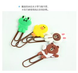 Wholesale Animal Paper Clips - Wholesale- 2pcs kawaii cartoon animals Bookmarks paper big clips For Books Gift Creative School Office Supply Escolar Papelaria