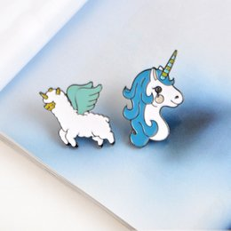 Wholesale Cute Korean Silver Jewelry - wholesale 12pcs s 2017 hot selling new fashion jewelry drop oil brooch pins Japanese Korean style cute cartoon brooch children gift decorate