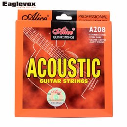 Wholesale Alice Strings - wholesale Acoustic Guitar Strings Stainless Steel Coated Copper Alloy Wound Alloy Wound Alice A208