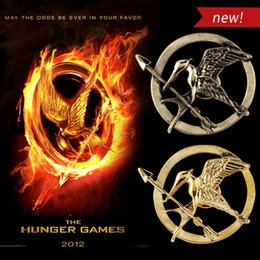 Wholesale Hunger Games Logo - European and American film The Hunger Games LOGO mock birds jewelry brooch two color options a375