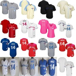 Wholesale 2017 Mens Womens Kids Toronto Blue Jays Justin Smoak Father Fashion Canada Mother USMC Blue Grey Red Cream White Cool Flex Baseball Jerseys