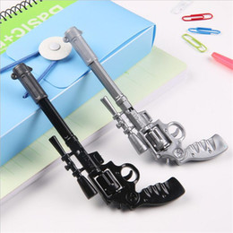 Wholesale Novelty Gun Pens - Roscoe Fiveshooter Gun Ballpoint Pen Novelty Stationery Cute Funny Kawaii Pens Canetas Rollerball Pen School Supplies