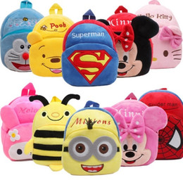 Wholesale Animal Plush Backpack - New Cartoon Character Kids Candy Toys Bags Children Backpacks Lovely Plush Cartoon Kids Mickey Mich School Bags Animals Backpack Wholesale