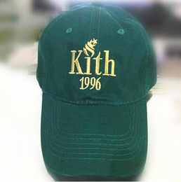 Wholesale Kith Hat - Newest 2017 Kith 1996 dad hat KITH Classic Logo cotton Snapback baseball cap Ronnie Fieg caps casquette savage logo caps nasa hats