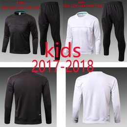 Wholesale Sport Wear Kids Boy - Top quality 2017 2018 young Long Sleeve kids training tracksuit 17 18 Soccer Set Football Suits Sport Wear KROOS Ronaldo Football training