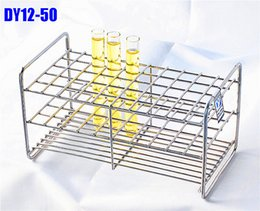 Wholesale Test Tube Rack Wholesale - Wholesale- Test Tube Rack 50 Holes Dia.13.5mm Stainless Steel Wire High Quality All Size Available In Store