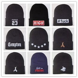 Wholesale pyrex brown - New Arrival Compton Pyrex 23 tha Alumni last kings 40 OZ NYC beanie hats hip hop wool winter hat cotton knitted warm caps for men women
