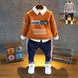 Wholesale Boys Knit Sweater Pattern - Letter Knitting Patterns Children Sweaters round neck long sleeve Autumn Winter boys Pullover Sweaters Boys Kids Clothes Boys Clothing A1054