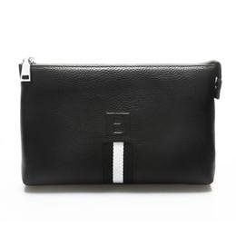 Wholesale Cowhide Clutches - Wholesale- Leather Man Bags Dinner Evening Clutch Handbag Business Men Clutch 100% Cowhide Genuine Leather Clutch Cellphone Men Hand Bags