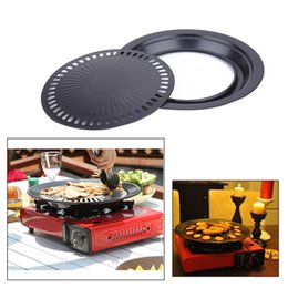 Wholesale Wholesale Bread Loaf Pans - NEW Non-stick Barbeque Pan Meat Grill Dish Yakiniku BBQ Plate Korean Frying Roasting Cooking Tool Bakeware