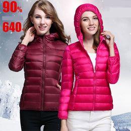 Wholesale new winter coats for women - New down jacket women Spring & Autumn thin parkas women hooded designer coats short slim canada down coat jacket winter jackets for women