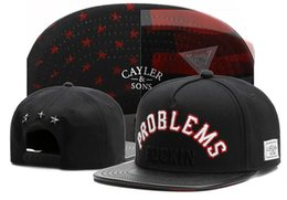 Problemas negros online-Cayler Sons PROBLEMAS FU * KIN Negro Mujer Snapback para hombre Verano Canvas Visor deportivo Flat Hip-hop Cap Gorras de béisbol ajustables TYMY 584