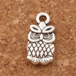 Wholesale Owl Bracelet Charms - Small Owl Charms Pendants 7x15mm 200pcs lot Antique Silver Fashion Jewelry DIY Fit Bracelets Necklace Earrings L987