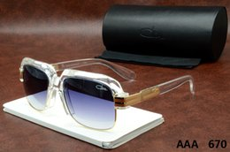 Wholesale Top Brand Sunglasses Cheap - Cazals Sunglasses 670 Glass Top Quality Polarized Cheap Mens Womens Sunglasses Brown Black Cazals Brand Designer Oversized Eyewear Oculos