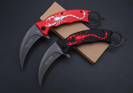 Wholesale Best Folding Karambit - Cold Steel F92 Karambit folding knife 3CR13 blade camping survival tactical pocket knife hunting outdoor tools best gift Free shipping
