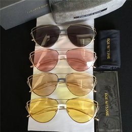 Wholesale Sake Glasses - 2017 Hot Selling New Model Night Glasses FOR ART'S SAKE Dark Eyes Metal Hight Quality Sunglasses In Free shipping