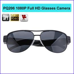 Wholesale Sunglasses Full Hd Camera - Full HD 1920*1080P Mini DVR Camcorder Camera Sunglasses Video Recorder large eyeglass DV fashion Cam PQ206