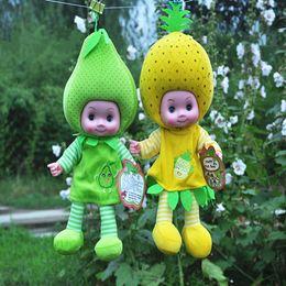 Wholesale Toy Vegetables For Baby - Wholesale- 30cm Baby Smart Fruit Dolls Toys Super Cute Vegetables Doll Intelligent Talking Sing Doll Best Gift For Children