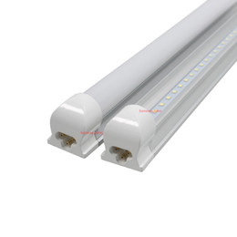 Wholesale Epistar Leds - New Integrated 2ft 4ft 5ft 6ft 8ft 45W Led T8 Tube Lights SMD2835 192 Leds High Bright LED bulbs 4800lm CE CSA UL