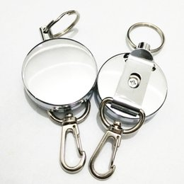 Wholesale retractable carabiner - Mini Outdoor Safety Buckle Retractable Rope Keychain Anti-Lost Keychain Travel Kits Sports Accessories Camping Hiking Portable B109Q