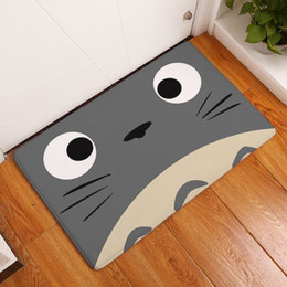 Wholesale kawaii totoro welcome mat door entrance carpet kitchen bathroom rug funny floor doormat modern home decor