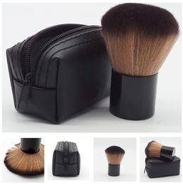 Макияж кисти логотипы онлайн-Горячий макияж M 182 rouge brush \румяна brush+кожаная сумка с логотипом DHL бесплатная доставка