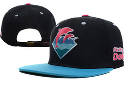 Wholesale Dolphins Hat - 2017 New Arrival Pink Dolphin snapbacks hats hip hop street wear adjustable snapback hat cap hot selling