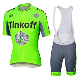 Wholesale Saxo 4xl - saxo bank tinkoff Team fluorescence green cycling jersey short sleeve Ropa Ciclismo bicicletas maillot ciclismo C2916