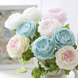 Wholesale Wedding Bouquets Pink Roses - Artificial flower peony top grade silk flower Wedding Flowers Bride Bouquets Holding Flower
