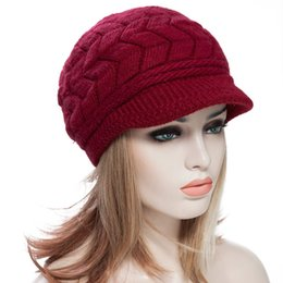 Wholesale Knitting Patterns Hats For Women - Wholesale-Popular Punk Pure Color Elastic Ladies Cotton Beret Stylish Chic Women Pattern Solid Color Knitting Beret Hat For Adult 1601551