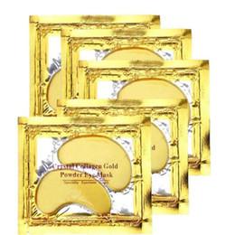 Wholesale Eye Puffiness - Hot Selling Collagen Crystal Eye Masks Anti-puffiness moisturizing Eye masks Anti-aging masks collagen gold powder eye mask