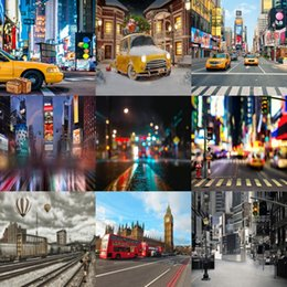 Wholesale Night Photography Camera - wholesale custom 5x7FT new york times square night scenic photography backdrops for photos studio vinyl background backdrop digital camera