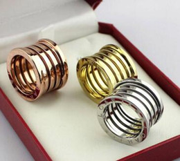 Wholesale American Version - Spring ring rose gold foreign trade widdest version of the ring