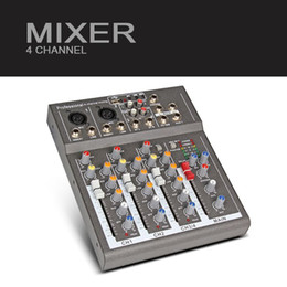 Wholesale Audio Power Mixer - Freeshipping Y.M.H 4 Channel F4 Mixer For Stage Home Karaoke DJ show with 48V Phantom power USB echo voic effect audio