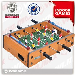 Wholesale Soccer Puzzles - Foosball Game Luxury Mini MDF Soccer Table Portable Kid Puzzle Parents And Children Leisure Sports Games