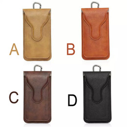 Wholesale Iphone Waist Holder - Universal Outdoor Dual Bags Leather Belt Cases Waist Pouch Holder Phone Case For iphone 7 6 6s plus