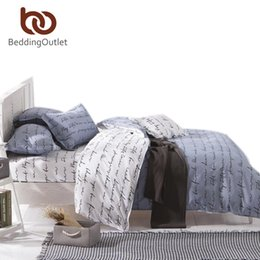 Wholesale Comforter Sets Queen Sale - Wholesale-2016 Hot Sale Black And White Home Textiles Plain Printed Comforters Cheap Soft Bedding Sets Twin Queen King Size