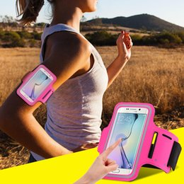 Wholesale Galaxy Arm Band - Workout Gym Running Sport Arm Band Case For iPhone 7 6 6S Plus 5S SE For Galaxy S7 S7 Edge S6 Edge Plus S5 A5 A7 Waterproof Bag