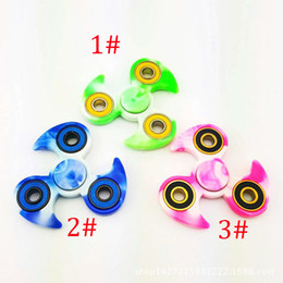 Wholesale Bears Wheels - wheels Hand Finger Toys for Adult EDC Torqbar Brass ABS Shuriken Ninja Darts Bearing Fidget Spinner with Retail Box DHL Freshipping
