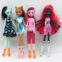 Wholesale Hot 14 Years Girls - Monster High Dolls Girl New Arrival Various Styles Colors Best Good For Kid Birthday Gift Soft Resin Material Hot Sale 10 5bb I1