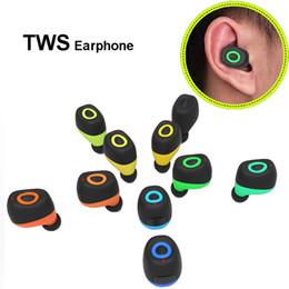 2019 micrófono inalámbrico invisible para el oído TWS Q17 Bluetooth Mini Auriculares intrauditivos Deportes inalámbricos Auriculares estéreo con micrófono Auriculares invisibles Manos libres para iPhone Samsung LG