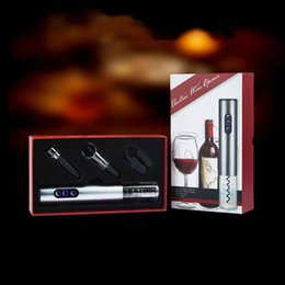 Wholesale Electric Bottle Opener Wine - electric wine bottle opener automatic wine opener gift set with luxurious packing for birthday gift