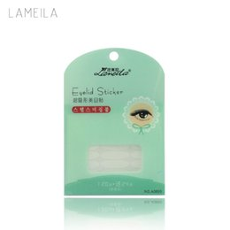 Wholesale Transparent Eyelid Tape - Wholesale-LAMEILA 144 Pairs Transparent Double Eyelid Sticker Tape Natural Flesh Beautiful Stickers Eyes Eyelid Tools Makeup Wholesale