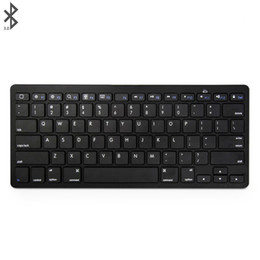 Wholesale Thin Bluetooth Keyboard For Phone - Ultra-thin 3.0 Bluetooth wireless keyboard 2.4Ghz Bluetooth Keyboards for iPad Mobile phone Tablet PC Macbook Windows IOS AAA Keyboards DHL
