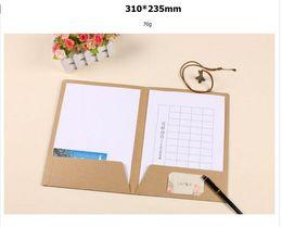 Wholesale A4 Paper Folder - Wholesale- Joy A4 kraft folder with two pocket, kraft paper presentation folders A4
