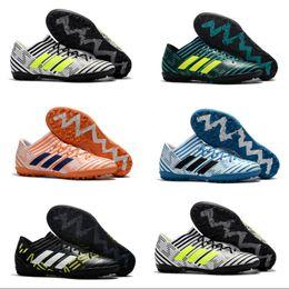 Wholesale Indoor Turf Football Shoes - 2018 Adidas Originals Nemeziz Tango 17.3 TF Men cleats Soccer Shoes indoor soft football boots nemeziz 17 turf zapatos futbol 39-45
