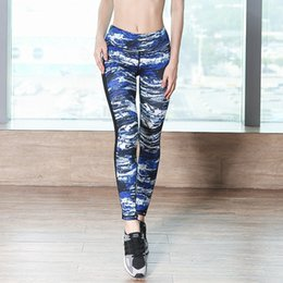 Wholesale Sheer Leggings Pants - Women's Printed Mesh Sheer Yoga Pants High Elastic Yoga Fitness Workout Leggings Size S-XL
