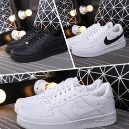 Wholesale Low Top Skateboard Shoes - 2017 top quality NEW mans fashion the low high top white air running shoes Skateboard shoes Women black love unisex ones 1
