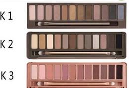 LIVRAISON GRATUITE CHAUDE bonne qualité le plus bas Best-Selling bonne vente plus récents produits maquillage 12 couleurs ombre à paupières palette + cadeau ? partir de fabricateur